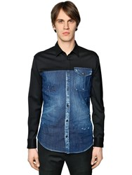 Dsquared Woven Wool And Cotton Denim Shirt