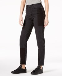 Buffalo David Bitton Patched Two Tone Girlfriend Jeans Steel Colorblock