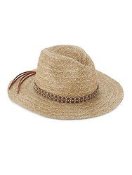 San Diego Hat Co. Studded Woven Natural