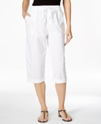 Karen Scott Drawstring Waist Cuffed Capri Pants Only At Macy's
