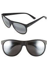 Women's Maui Jim 'Rising Sun' Polarized Sunglasses Matte Black Neutral Grey
