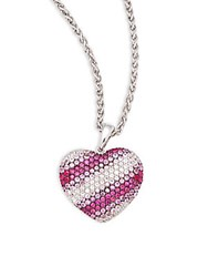 Effy Sapphire And Sterling Silver Heart Pendant Necklace