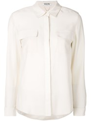 Max And Moi Chest Pocket Shirt Nude And Neutrals
