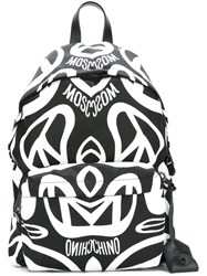 Moschino Peace Sign Backpack Black