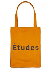 Etudes October Mustard Canvas Tote Yellow