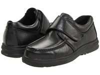 Hush Puppies Gil Black Leather Men's Hook And Loop Shoes
