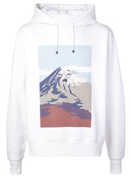 Aztech Mountain Doodle Hoodie White