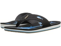 Freewaters Jig Blue Fish White Men's Sandals Black