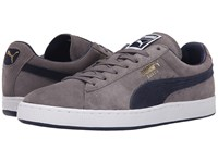 Puma The Suede Classic Steel Gray Peacoat Peacoat Men's Shoes