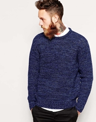 Soulland Jumper In Heavy Knit Navy