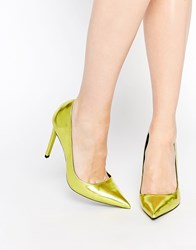 Asos Platinum Pointed High Heels Sulphurmetallic