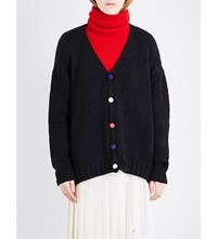 The Elder Statesman Oversized Cashmere Cardigan Cus 1