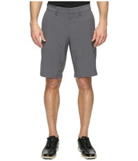 Nike Flat Front Woven Shorts Dark Grey Black Men's Shorts Gray