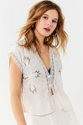 Urban Outfitters Uo New Dawn Vestito Crochet Top Ivory