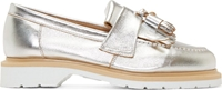 Ymc Silver Coated Solovair Edition Tassel Loafers