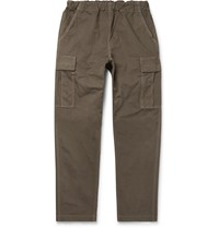 Orslow Tapered Cotton Canvas Cargo Trousers Green