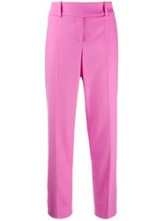 Ermanno Scervino High Waisted Pleated Trousers Pink