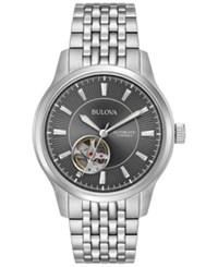 Bulova Men's Automatic Stainless Steel Bracelet Watch 40Mm 96A190 Silver