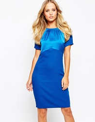Y.A.S Sienna Dress With Front Contrast Navy