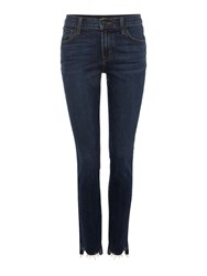 J Brand 811 Skinny Jean With Front Hem Cut In Mesmeric Denim Mid Wash