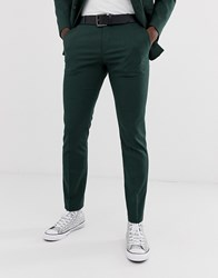 Selected Homme Slim Suit Trouser In Green