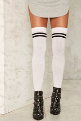 Game Is Up Thigh High Socks 72224