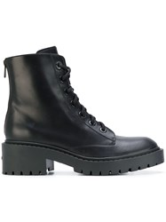 Kenzo Lace Up Combat Boots Black