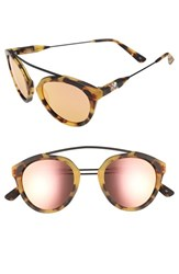 Westward Leaning Women's Olivia Palermo X 'Flower' Mirrored Sunglasses Sand Tortoise Matte Rose Gold Sand Tortoise Matte Rose Gold
