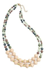 31 Bits Women's Oasis Paper Bead Necklace Sage Mint