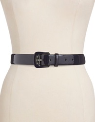 Lauren Ralph Lauren Polished Classic Belt Navy Blue