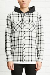 Forever 21 Hooded Flannel Shirt