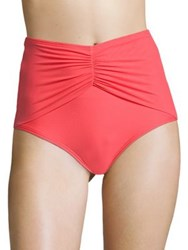 Coco Reef Diva Mesh High Waist Bikini Bottom Tangerine