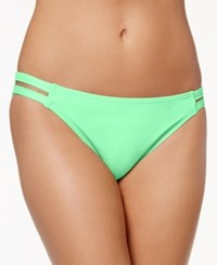 California Waves Strappy Hipster Bikini Bottoms Women's Swimsuit Aqua Mint