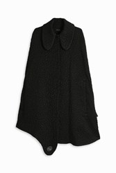 Simone Rocha Women S Silk Moire Cape Boutique1 Black