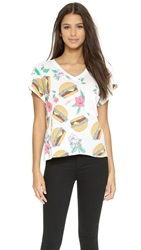 Wildfox Couture Hamburger Tee Vintage Lace