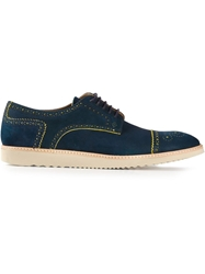 Ps Paul Smith Patterned Derby Shoes Blue