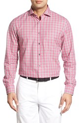 Men's Bobby Jones 'Clifford' Regular Fit Long Sleeve Plaid Sport Shirt Pink