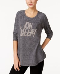 Styleandco. Style Co. Oh Deer Holiday Embellished Sweatshirt Only At Macy's Deep Black