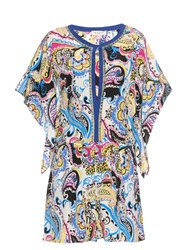 Etro Paisley And Foulard Print Silk Playsuit