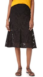 Fuzzi Knee Length Skirt Nero