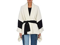 Rag And Bone Women's Britton Wool Blend Belted Cape Ivory