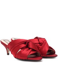N 21 Satin Sandals Red