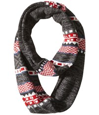 Smartwool Dazzling Wonderland Infinity Scarf Charcoal Heather Scarves Gray