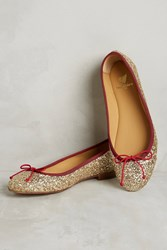 Anthropologie Bobbies La Comedienne Ballet Flats Gold
