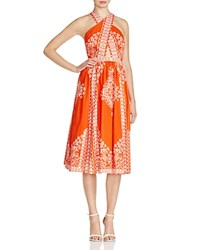 Tracy Reese Crisscross Midi Dress Sunrise