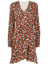 Essentiel Antwerp Leopard Print Wrap Dress 60