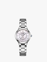 Rotary 'S Kensington Bracelet Strap Watch Silver Mother Of Pearl Lb05375 07