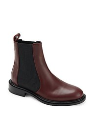 Jil Sander Leather Chelsea Boots Dark Red