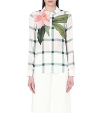 Ted Baker Tryna Crepe Shirt White
