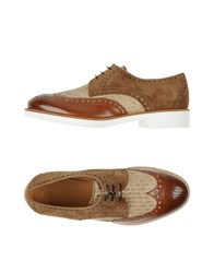 Giorgio Armani Footwear Lace Up Shoes Men Brown